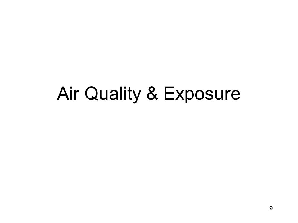 Air Quality & Exposure