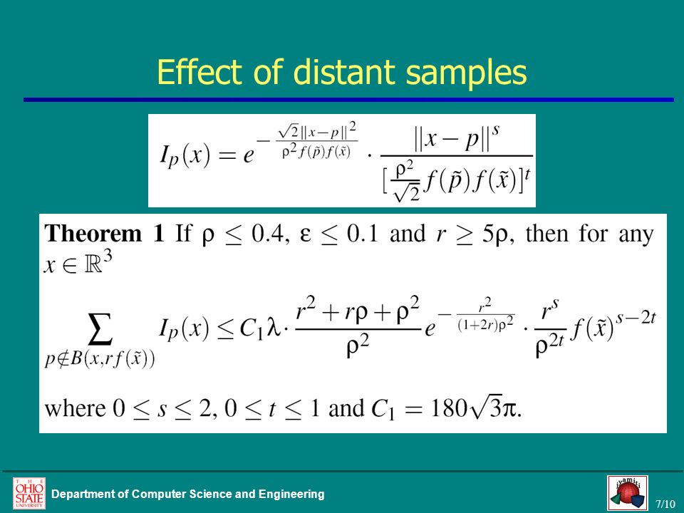Effect of distant samples