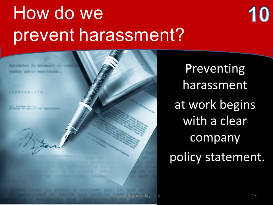 10 How do we prevent harassment