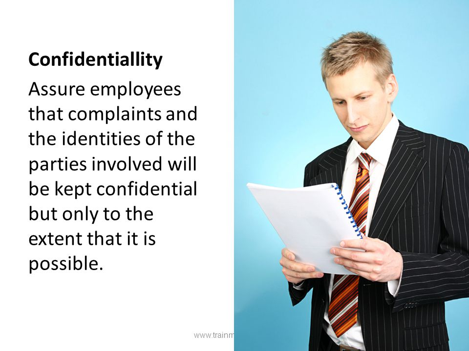 Confidentiallity