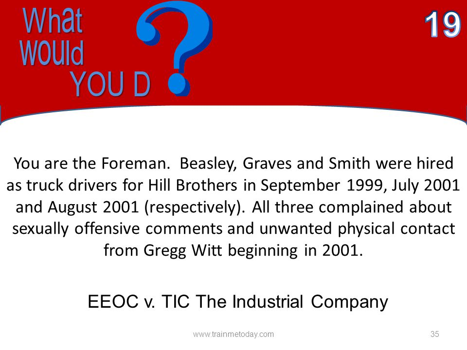 EEOC v. TIC The Industrial Company