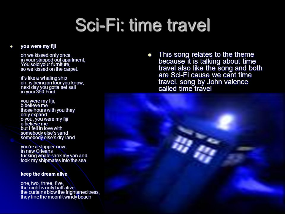 Sci-Fi: time travel