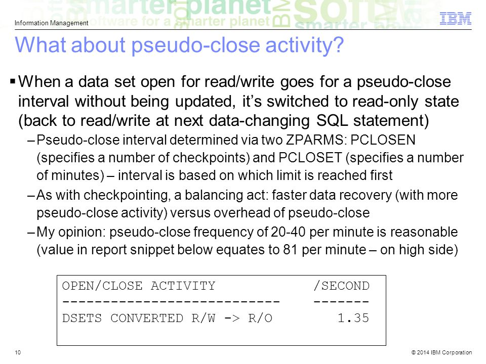 What about pseudo-close activity