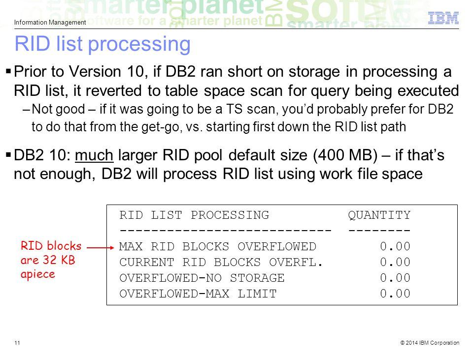 RID list processing