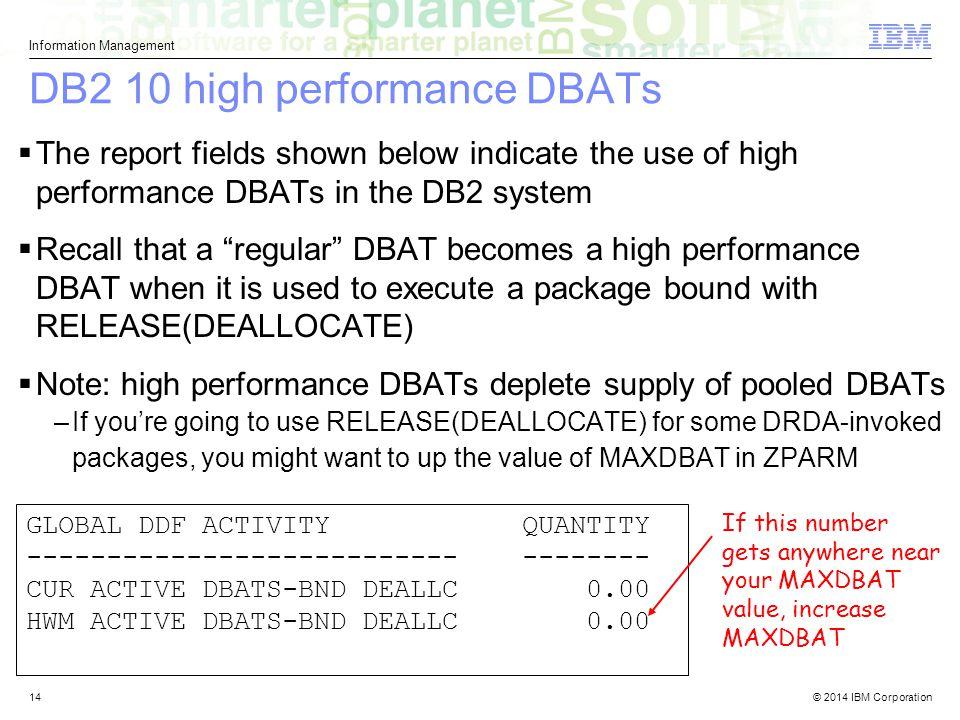 DB2 10 high performance DBATs