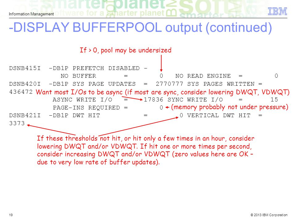 -DISPLAY BUFFERPOOL output (continued)