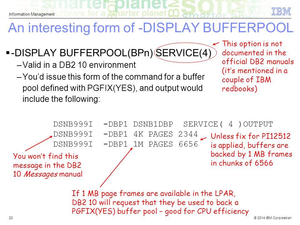 An interesting form of -DISPLAY BUFFERPOOL