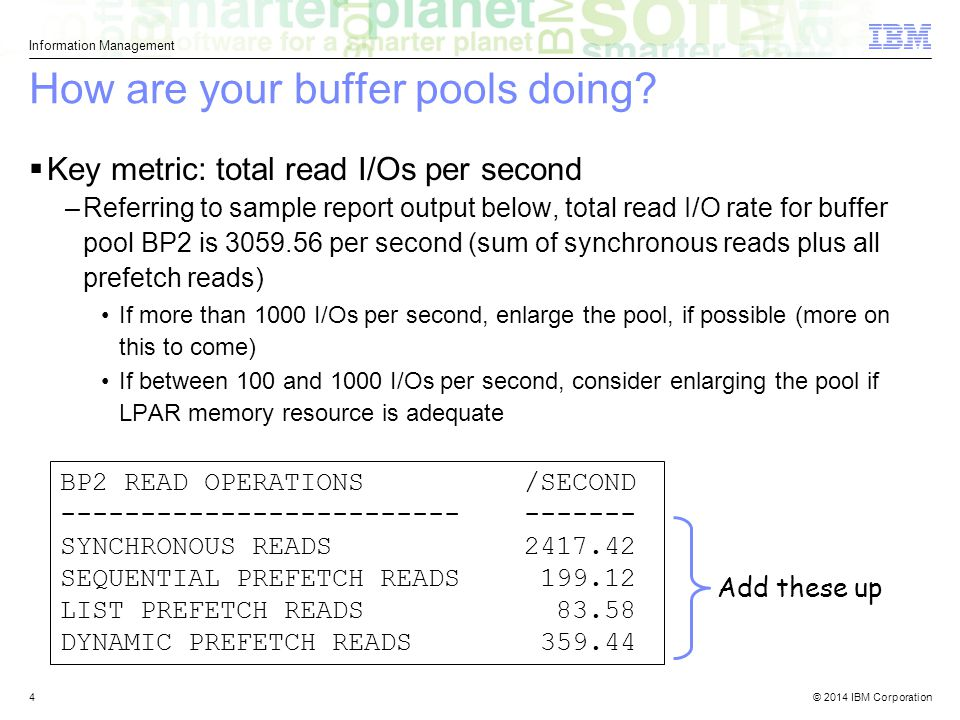 How are your buffer pools doing