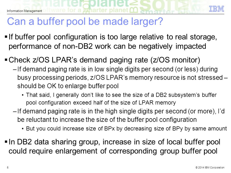 Can a buffer pool be made larger