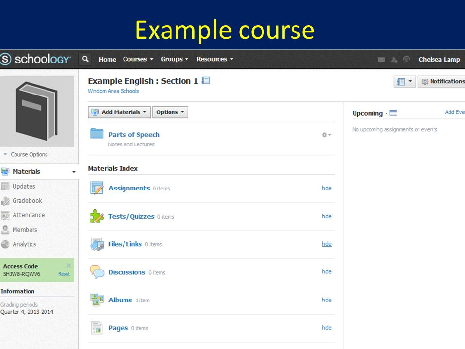 Example course