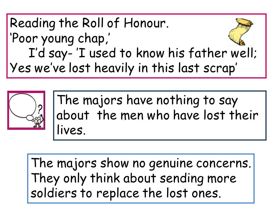 Reading the Roll of Honour. 'Poor young chap,'