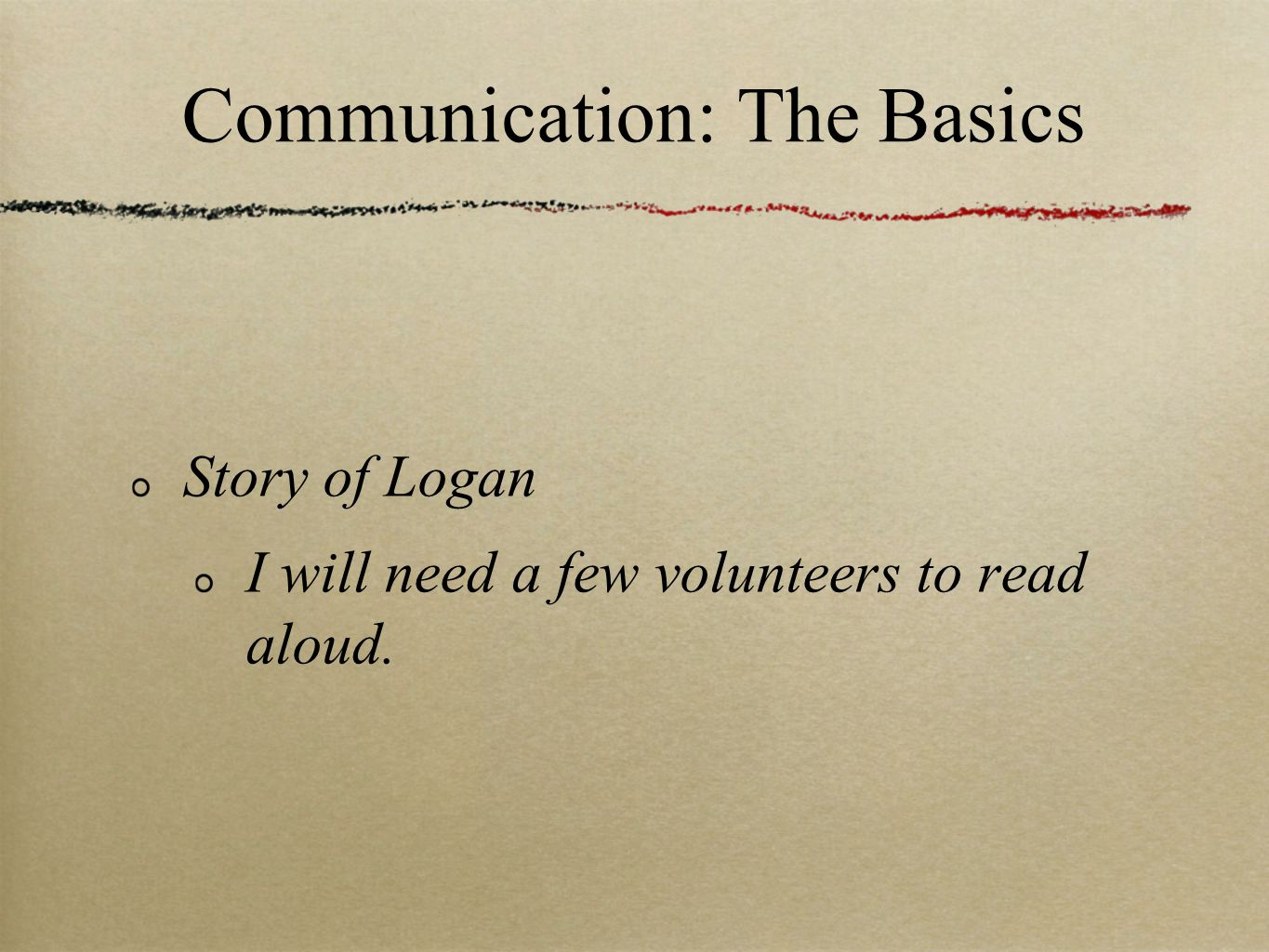 Communication: The Basics