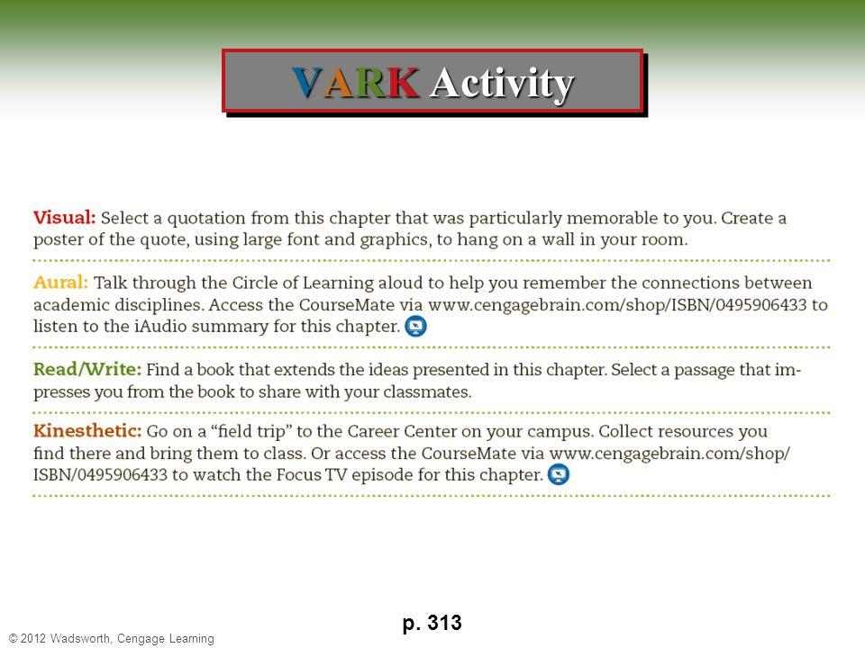 VARK Activity p. 313