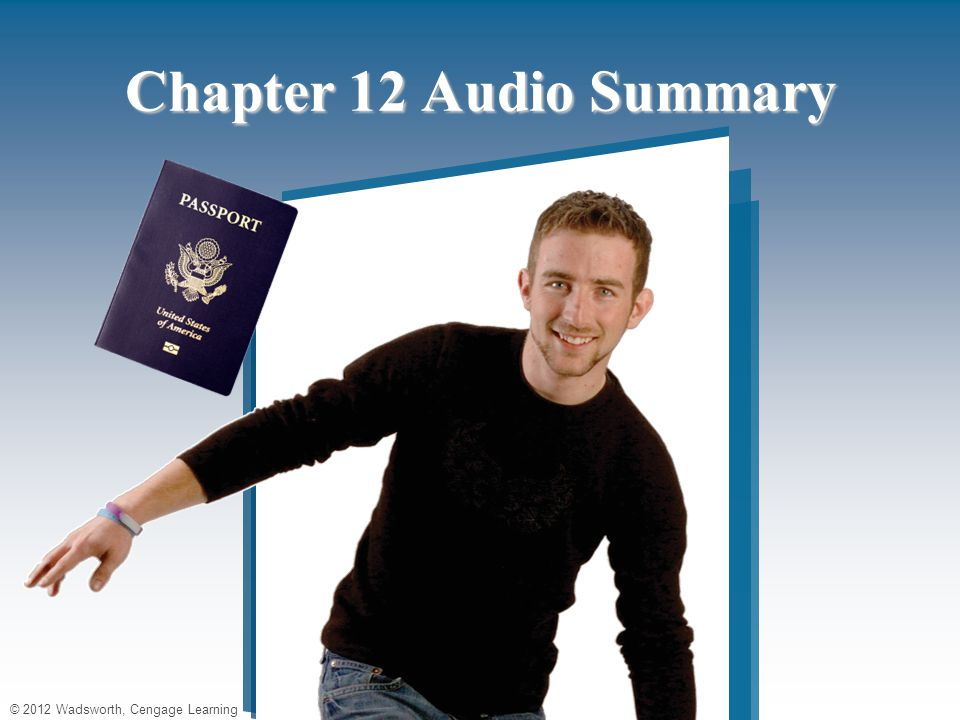 Chapter 12 Audio Summary