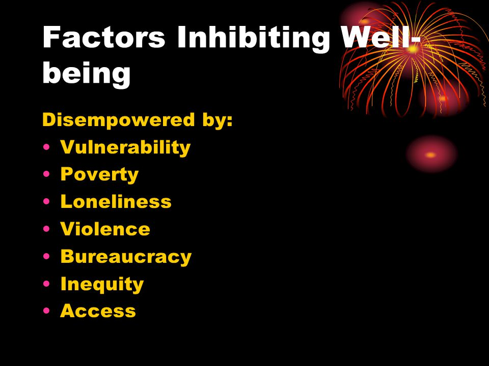 Factors Inhibiting Well-being
