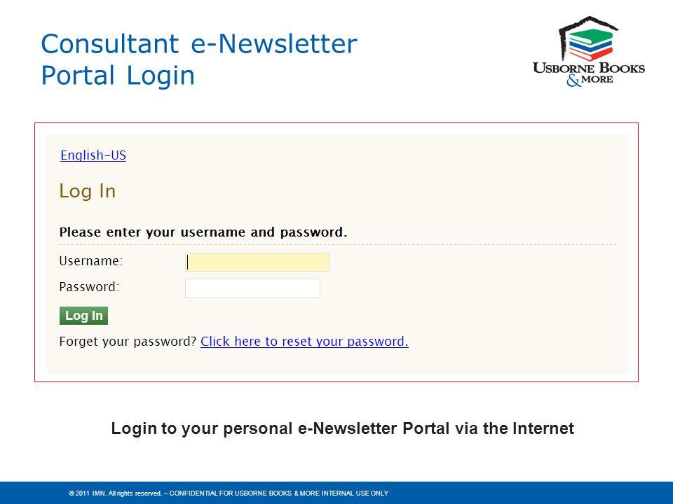 Consultant e-Newsletter Portal Login