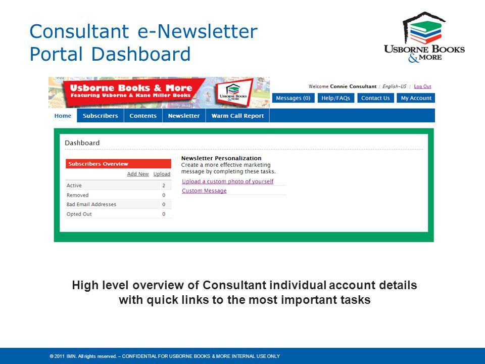 Consultant e-Newsletter Portal Dashboard