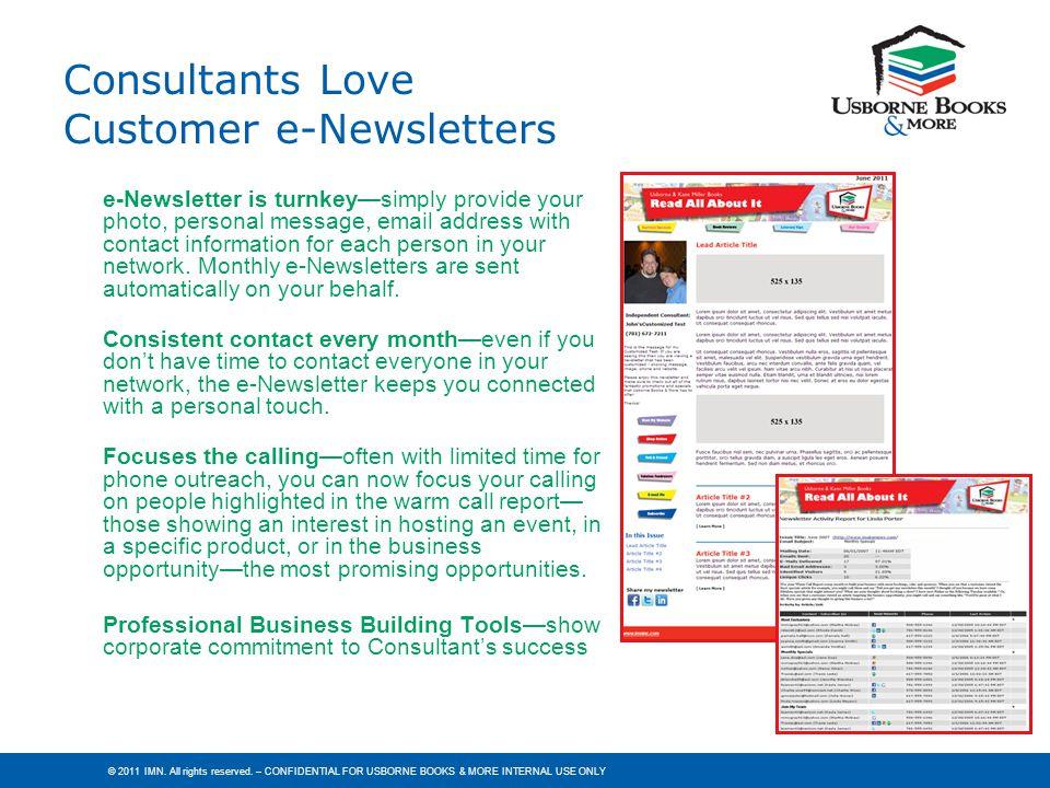 Consultants Love Customer e-Newsletters