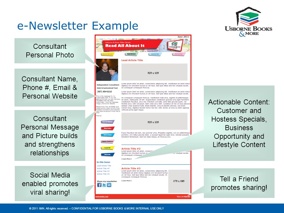 e-Newsletter Example Consultant Personal Photo