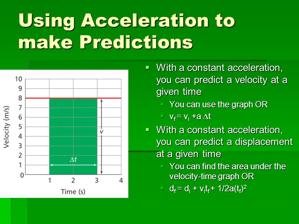Using Acceleration to make Predictions