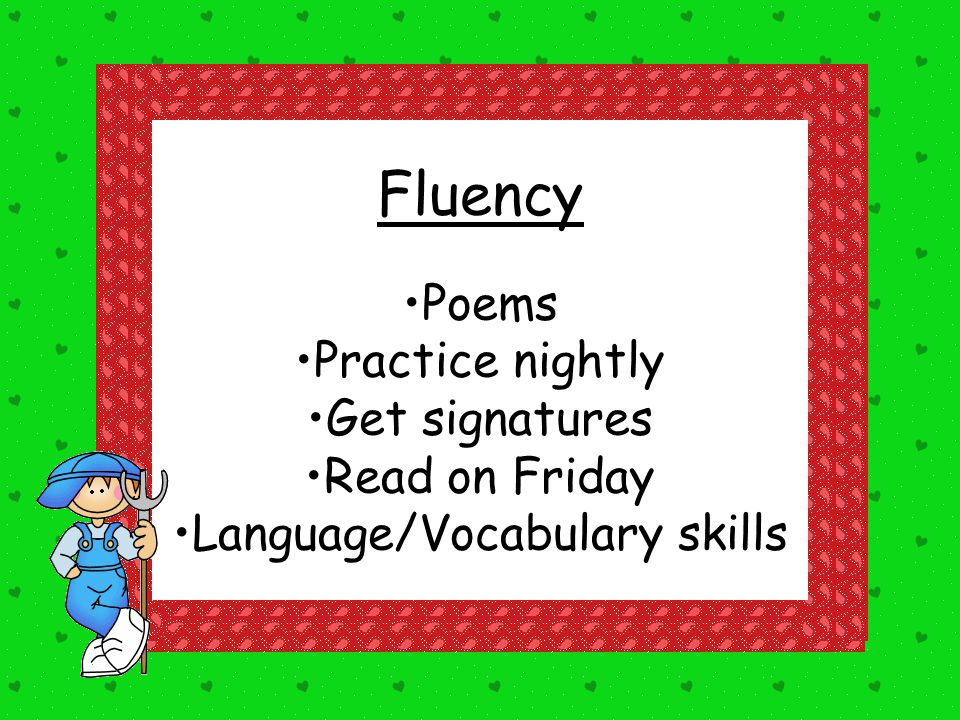 Language/Vocabulary skills