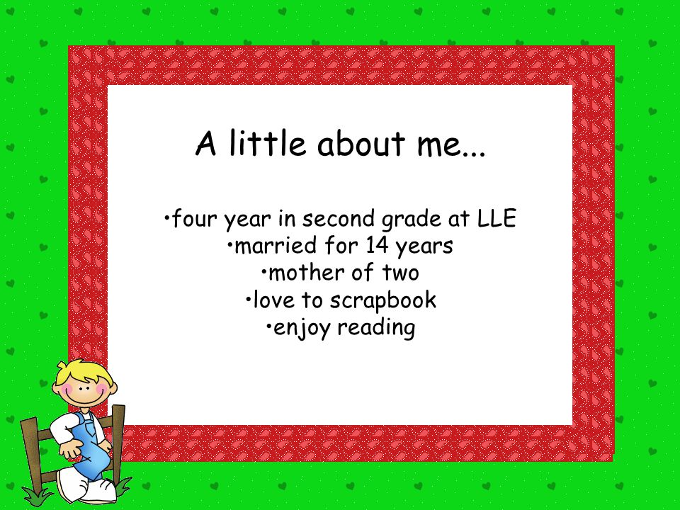four year in second grade at LLE