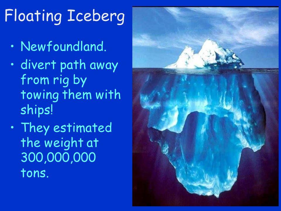 Floating Iceberg Newfoundland.