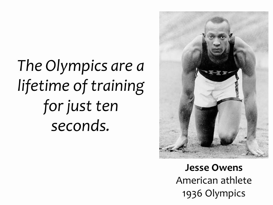 The Olympics are a lifetime of training for just ten seconds.