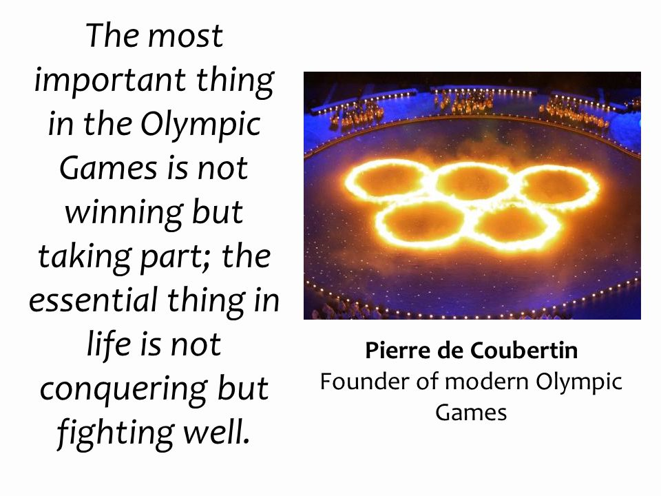 Founder of modern Olympic Games