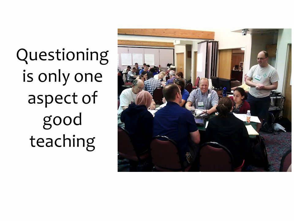 Questioning is only one aspect of good teaching