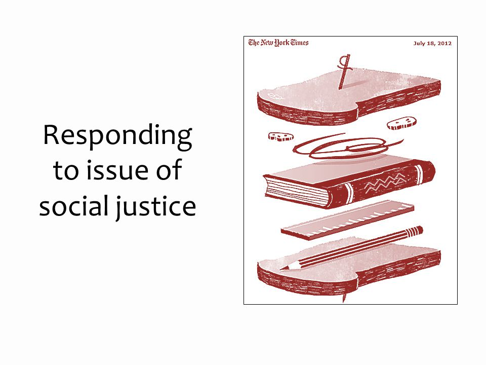 Responding to issue of social justice