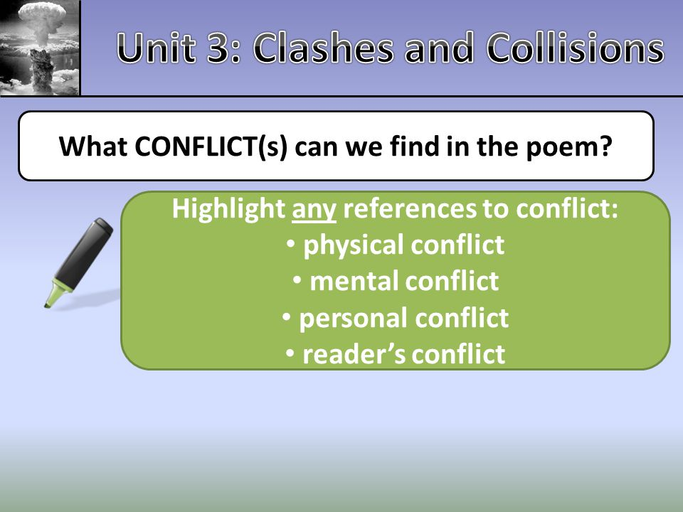 Unit 3: Clashes and Collisions