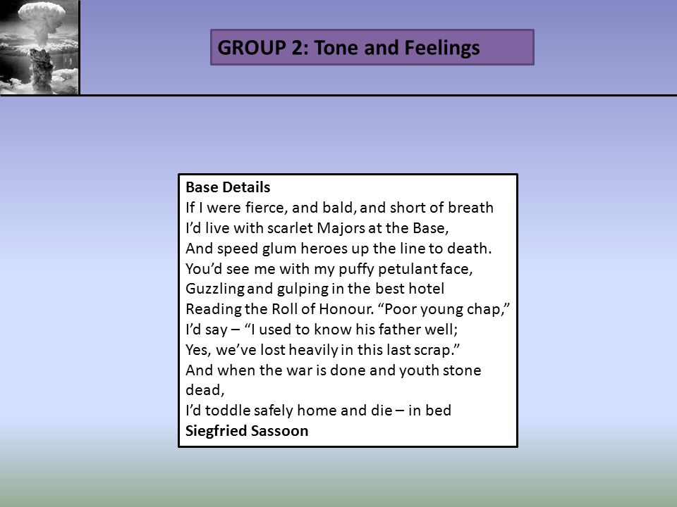 GROUP 2: Tone and Feelings