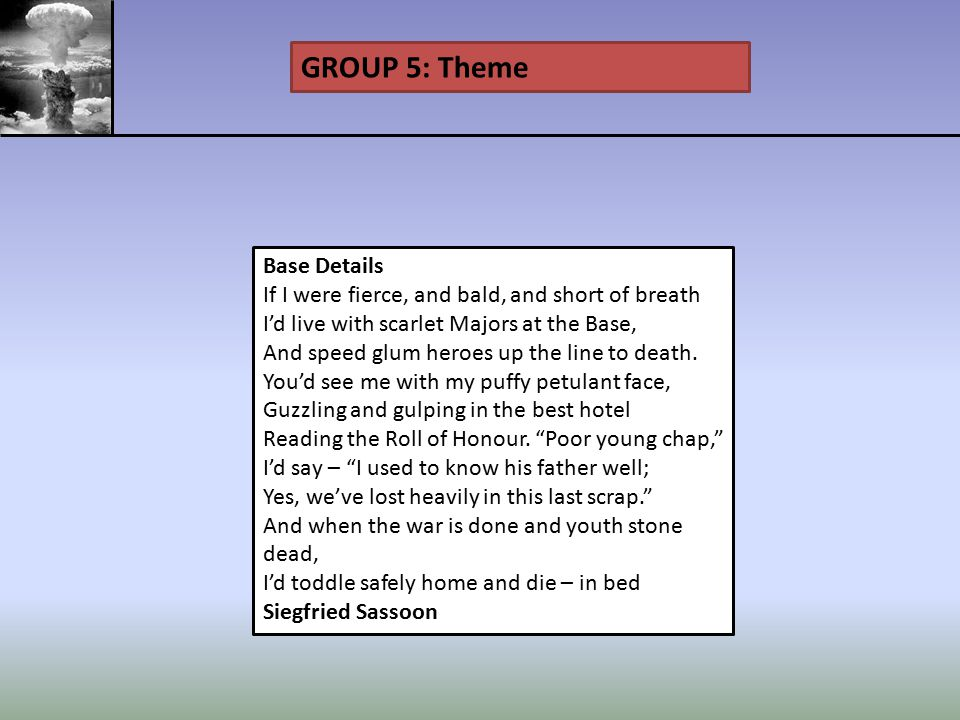 GROUP 5: Theme Base Details