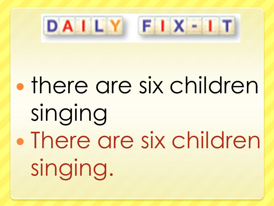 there are six children singing