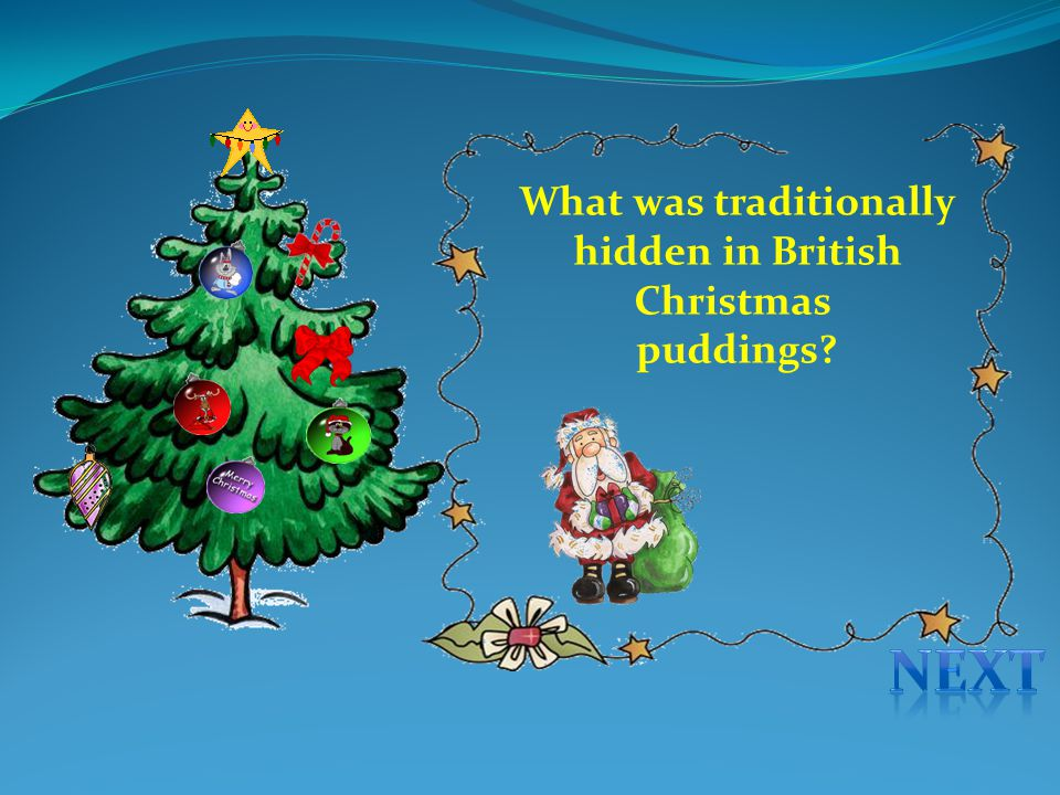 What was traditionally hidden in British Christmas