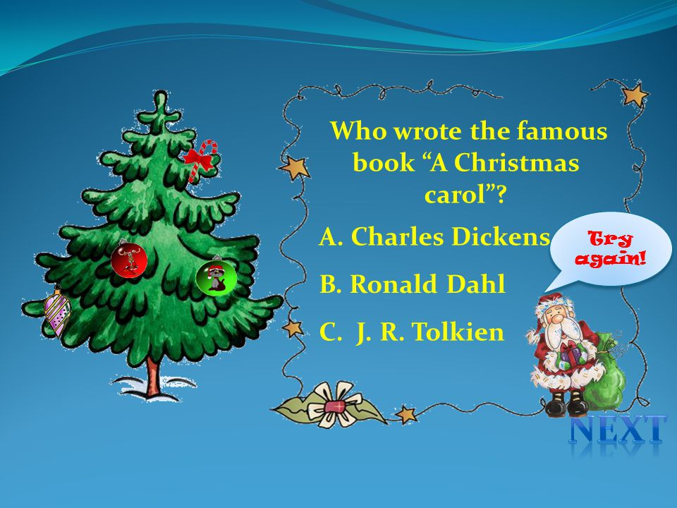 Who wrote the famous book A Christmas carol