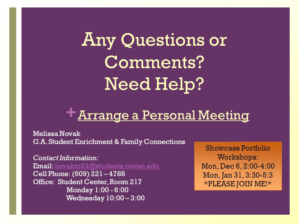 Arrange a Personal Meeting