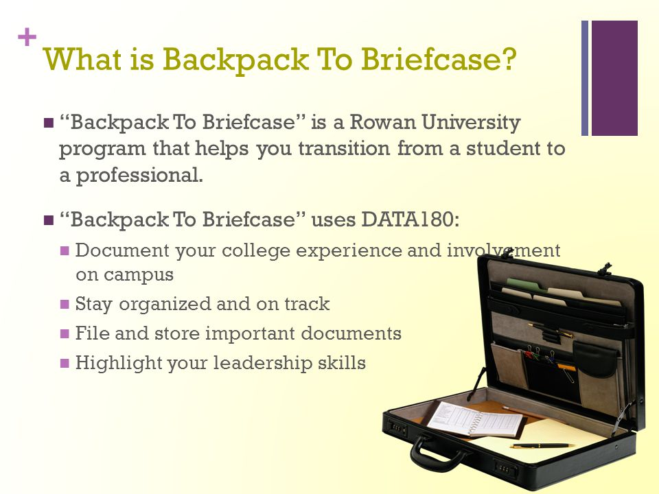 What is Backpack To Briefcase