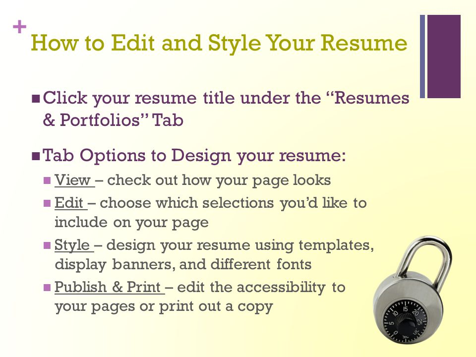 How to Edit and Style Your Resume