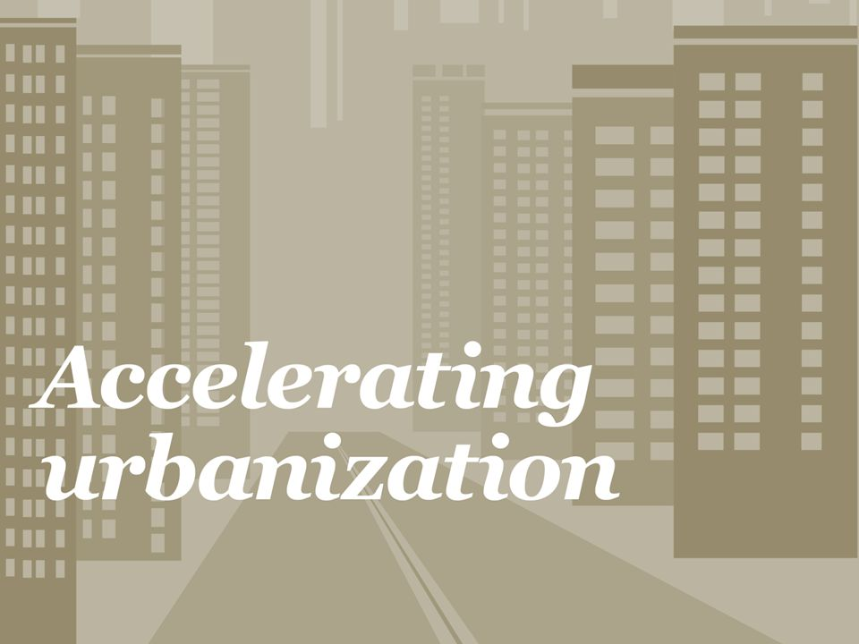 Our first megatrend: Cities are growing in population.