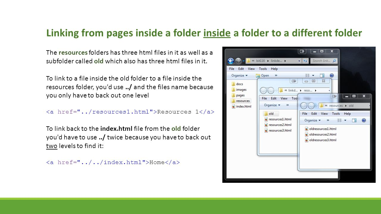 Linking from pages inside a folder inside a folder to a different folder