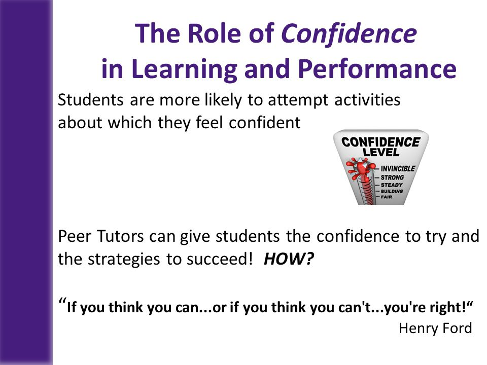 in Learning and Performance