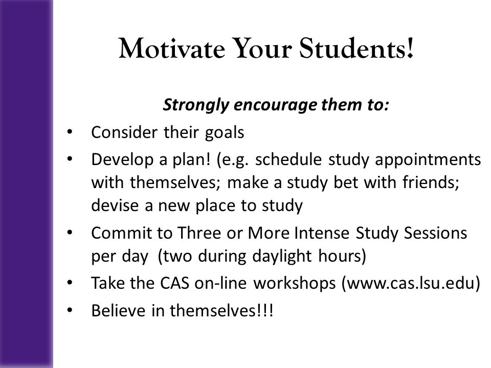 Motivate Your Students!