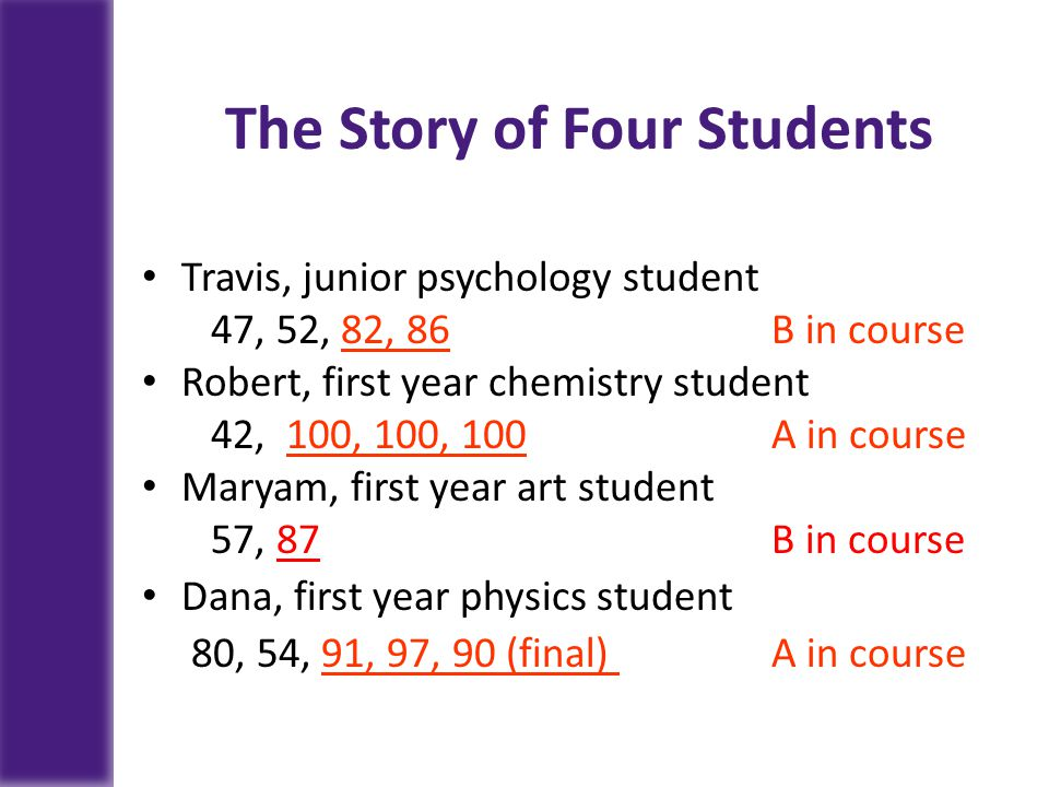 The Story of Four Students