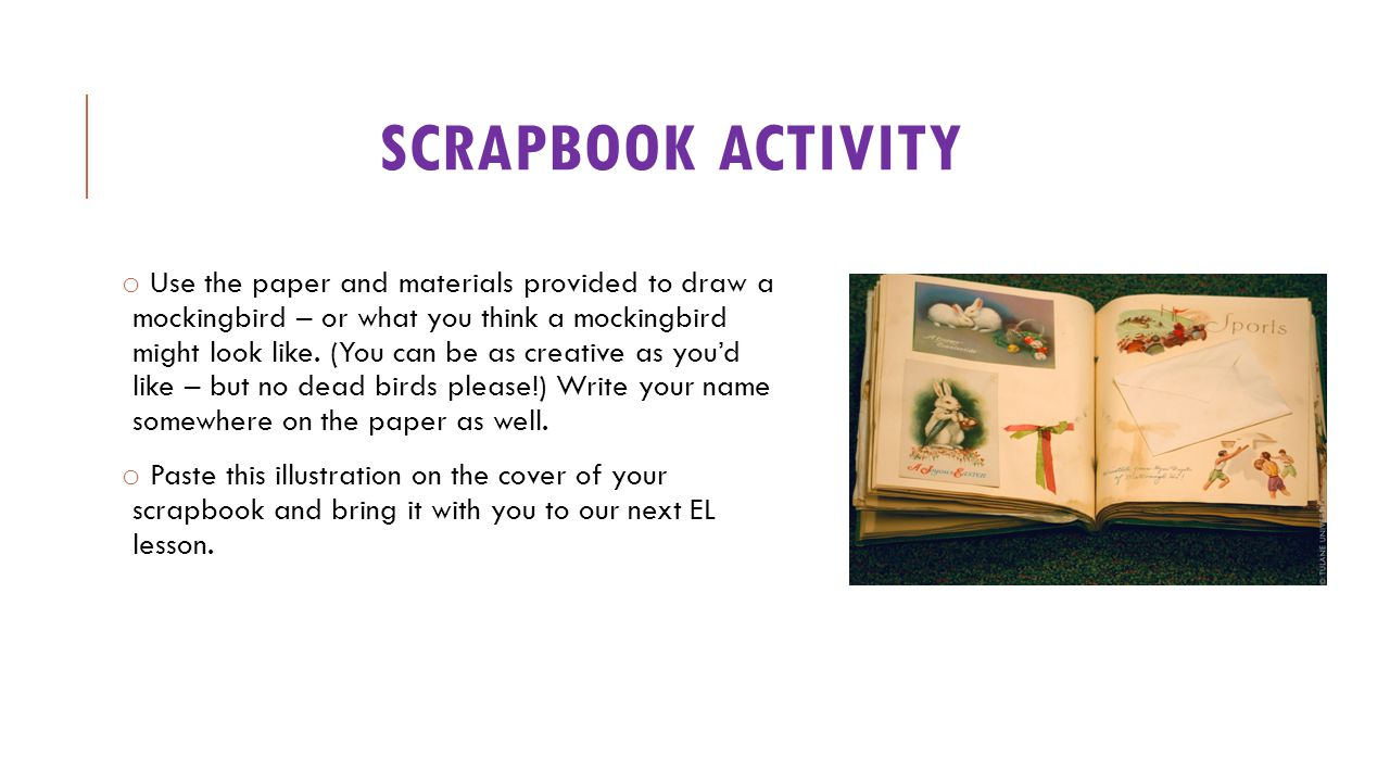 Scrapbook activity