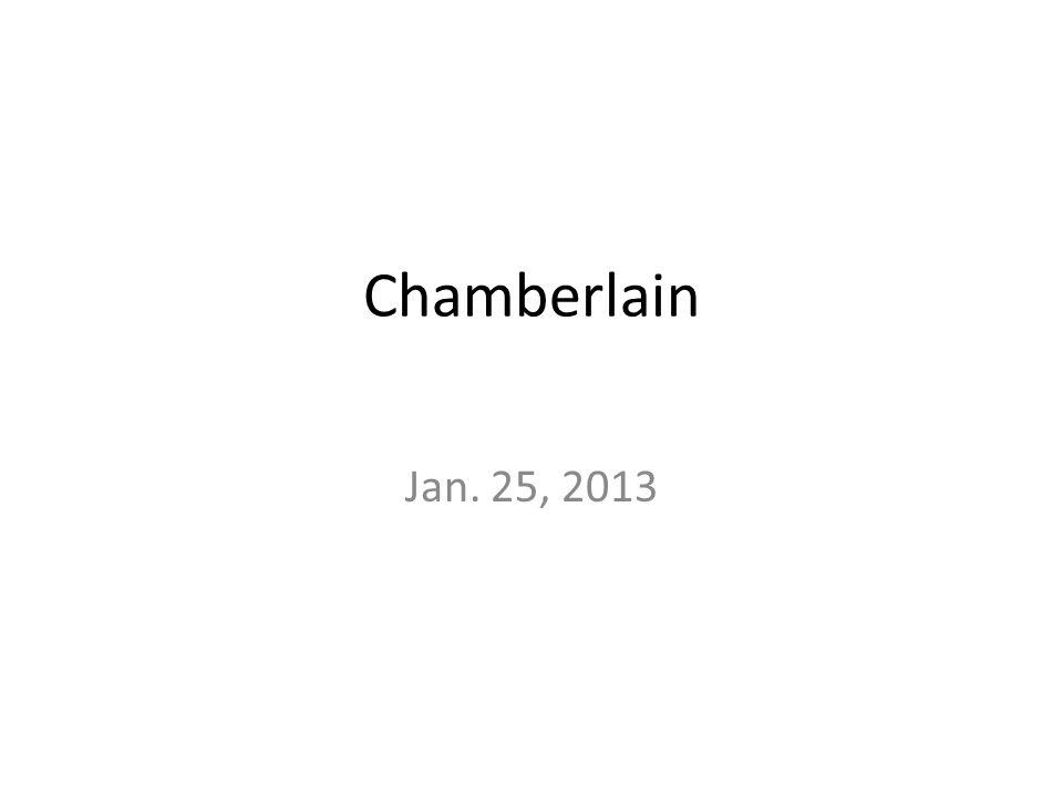 Chamberlain Jan. 25, 2013