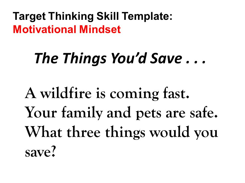 Target Thinking Skill Template: