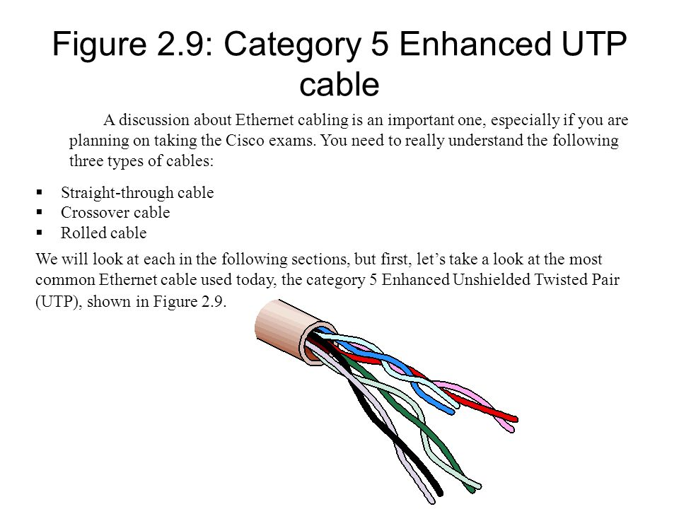 Figure 2.9: Category 5 Enhanced UTP cable