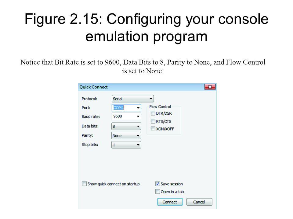 Figure 2.15: Configuring your console emulation program